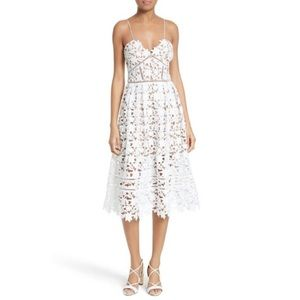 Self Potrait Azaelea White lace dress